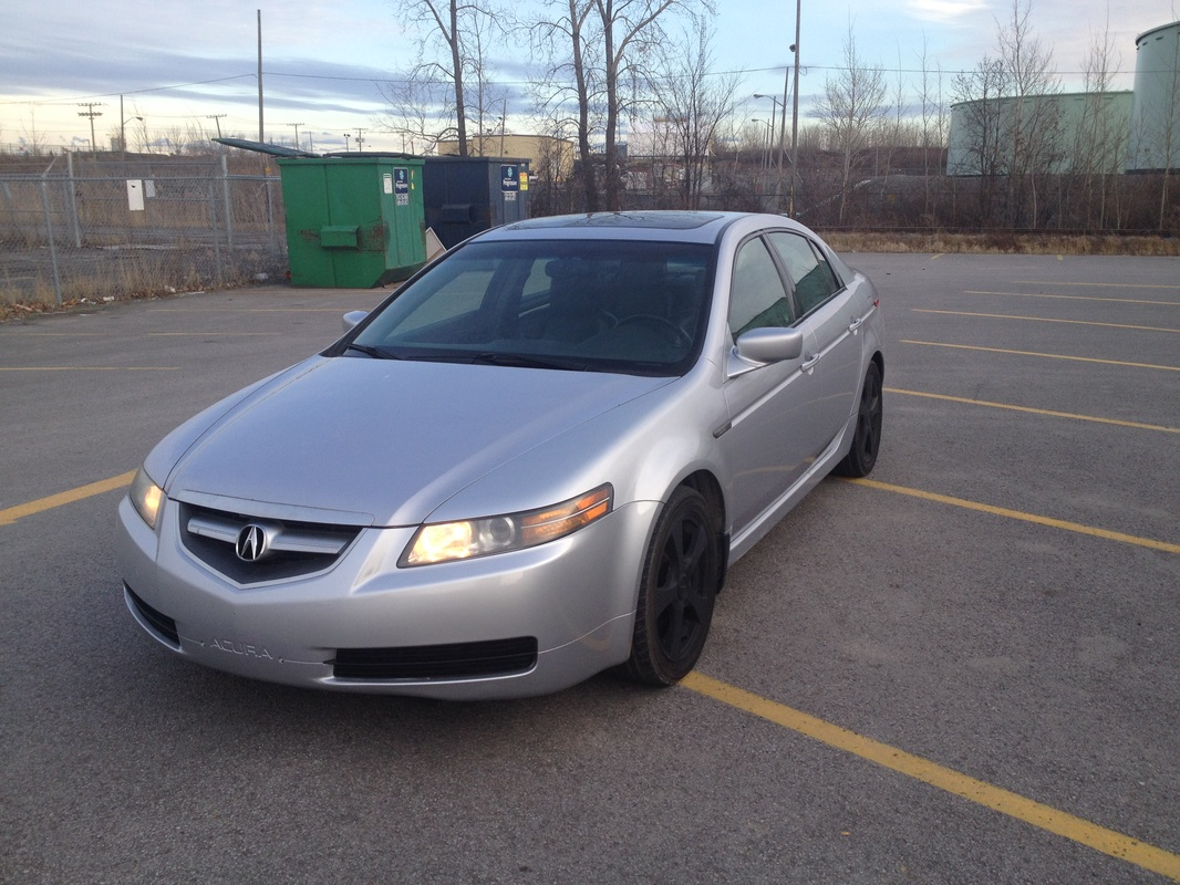 2005 Acura Tl Black With Silver Leather Auto Fully Loaded Air Pw Pdl Ps Pb Cruise One Owner Car Pristine Condition